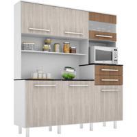 Cozinha Compacta Suprema 6 Pt 2 Gv Branco E Elmo