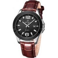 Relógio Megir 5006G Masculino Pulseira De Couro Marrom
