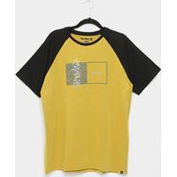 Camiseta Hurley Box Masculina - Masculino-Mostarda