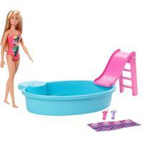 Boneca Barbie - Barbie Piscina Chique Com Boneca - Mattel