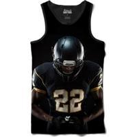 Camiseta Attack Life Regata Futebol Americano 22 Sublimada Masculina - Masculino-Preto