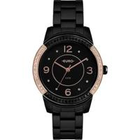 Relógio Euro Color Mix Glam Feminino - Feminino-Preto