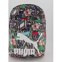Mochila Puma Originals Flower Estampada Branca