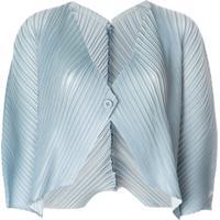 Issey Miyake Pleated Bolero - Azul