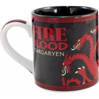 Caneca Targaryen Game Of Thrones Fire And Blood 470 Ml