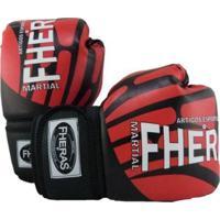 Kit Boxe Muay Thai Fheras Top Luva Bandagem Bucal Caneleira 08 Oz Elite - Unissex