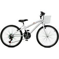 Bicicleta Master Bike Aro 24 Feminina Serena Plus 21 Marchas Branco