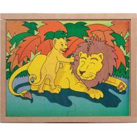 Conjunto De Quebra-Cabeças Animais & Filhotes Leão- Begecarlu