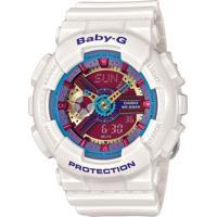 Relógio Feminino Casio G-Shock Baby-G Analógico Digital Ba-112-7Adr Branco
