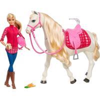 Boneca Barbie E Cavalo - Cavalo Dos Sonhos - Mattel - Feminino