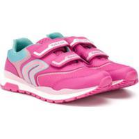 Geox Kids Mesh Logo Sneakers - Rosa