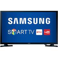 """Smart Tv Samsung Led Hd Preta 32"""" Un32J4300Agxzd Com Conversor Digita"""