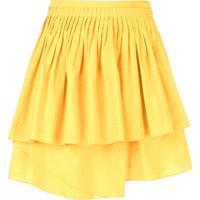 Ulla Johnson Saia Com Amarração Drapeada - Amarelo