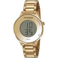 Relógio Mondaine Digital 42Mm Aço Feminino - Feminino-Dourado