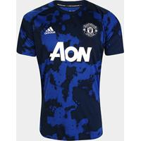 Camisa Manchester United Pré Jogo 19/20 Adidas Masculina - Masculino