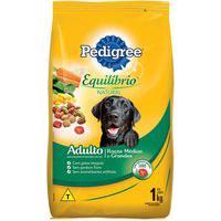 Ração Para Cães Pedigree Equilíbrio Natural Adultos Raças Médias E Grandes 1Kg