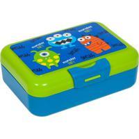 Porta Lanche Monster Party- Azul & Verde- 6X16X12Cbuba Toys