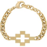 Marcelo Burlon County Of Milan Pulseira Com Corrente E Logo De Cruz - Dourado