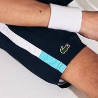 Shorts Lacoste Sport Masculino - Masculino-Azul Petróleo+Branco