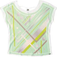 Blusa Feminina Estampada Em Tecido Verde
