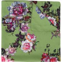 Preen By Thornton Bregazzi Echarpe Com Bordado Floral - Verde