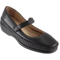 Sapato Feminino Gasparini Mocassim Boneca - Feminino-Preto