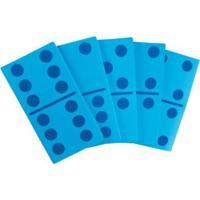 Dominó Flutuante Fiore C/ 28 Peças - Unissex-Azul