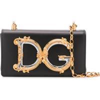 Dolce & Gabbana Bolsa Transversal Com Placa De Logo - Preto