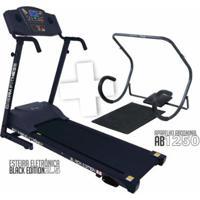 Combo Esteira Black Edition 2.5 + Aparelho Abdominal Ab1250 Dream - Unissex
