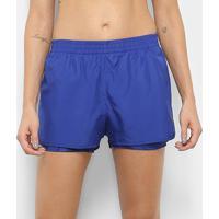 Short Adidas D2M Feminino - Feminino-Azul