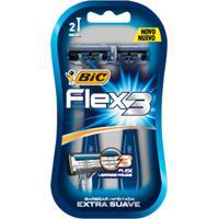 Aparelho De Barbear Bic Flex 3 Extra Suave 2 Unidades
