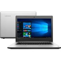 "Notebook Lenovo Ideapad 310-14Isk-80Ug0000Br - Prata - Intel Core I3-6100U - Ram 4Gb - Hd 1 Tb - Tela 14"" - Windows 10"
