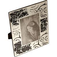 Porta-Retrato Decorativo Espelhado Fannes