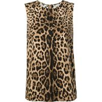 Dolce & Gabbana Blusa Com Estampa Leopardo - Marrom