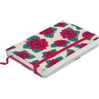 Caderno De Anotações Branco 100 Folhas Flores Frida Kahlo Urban