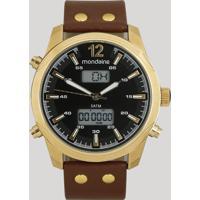 Relógio Analógico Mondaine Masculino - 99381Gpmvdh2 Dourado - Único