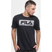 Camiseta Fila Sports Camo Masculina - Masculino-Preto
