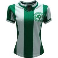 Camisa Liga Retrô Chapecoense 1979 Feminino - Feminino-Verde+Branco