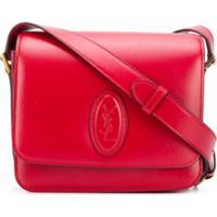 Saint Laurent Bolsa Transversal Monogramada Pequena - Vermelho