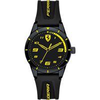 Relógio Scuderia Ferrari Infantil Borracha Preta - 860009