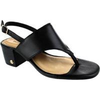 Sandália Salto Baixo Bottero Phoebe Black Feminina - Feminino-Preto