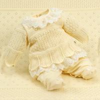 Saída De Maternidade Beth Bebê Plush Bella Luxo Amarelo