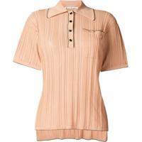 Acne Studios Camisa Polo De Tricô Canelada - Neutro