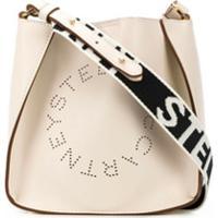 Stella Mccartney Bolsa Transversal Stella Com Logo - Neutro