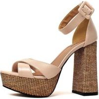 Sandália Damannu Shoes Gabi Feminina - Feminino-Gelo