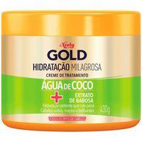Creme De Tratamento Niely Gold Hidratação Milagrosa Água De Coco Com 430G 430G