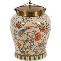Vaso Decorativo De Porcelana Fiore Ii P
