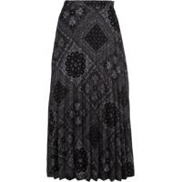 Fung Lan And Co. Paisley Pleated Skirt - Preto