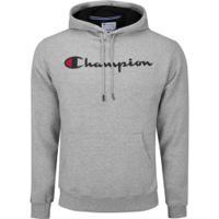 Blusão Com Capuz Champion Cap Graphic - Masculino - Mescla