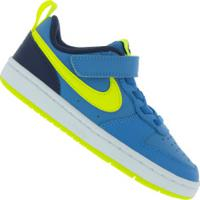 Tênis Nike Court Borough Low 2 - Infantil - Azul/Verde Cla